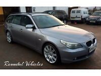 "VERY SMART! 2005 BMW 525 SE ( sport ) estate auto 115k, Gunmetal grey, 19""sport alloys grey Lthr nav"