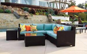 FREE Delivery in Calgary! Outdoor Patio Wicker Sunbrella Sectional Sofa by Cieux! Brand New!