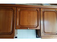 Acacia, Wall and Kitchen Base units, inc, SS sink and mixer taps for sale