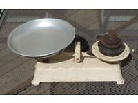 Vintage Cast Metal Kitchen Scales & Imperial Weights - Perfect item for upcycling.