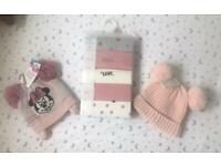 2x baby hats brand new with tags Disney & Next and brand new babygrows