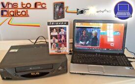 VHS Video Player / Recording Kit ~ Convert Tape VHS to PC Digital DVD + VIDEO PLAYER