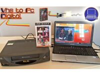 VHS Video Player / Recording Kit ~ Convert Tape VHS to PC Digital DVD + VIDEO PLAYER