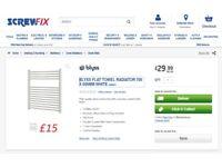 Towel Radiators Brand New Blyss/Screwfix