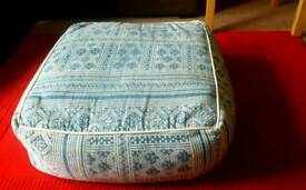 Large persia blue pouffe
