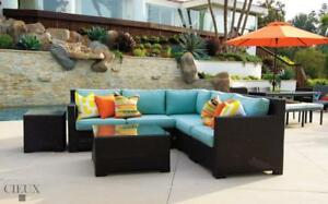 FREE Delivery in Montreal! Provence Outdoor Patio Wicker Sunbrella Sectional Sofa by Cieux!