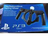 BNIB... X2.....PS3 MOVE STEERING WHEEL