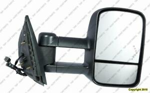 Door Mirror Power Passenger Side Heated Trailer Tow Type Telecopic With Signal Manual Folding GMC Sierra 2007-2013