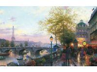 New Gibsons Thomas Kinkade Jigsaw Puzzle Eiffel Tower 1000 Pieces