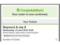 Beyoncé and jay z Manchester