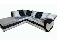 SPECIAL OFFER: BRAND NEW DINO MAX DIOMAND CRUSH VELVET SOFAS WITH EXPRESS DELIVERY!