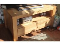 ** Reserved pending collection** Solid oak TV cabinet with drawers