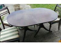 MEREDEW Extendable Dining table and 3 chairs