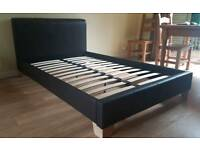 Faux leather small double bed - local delivery possible