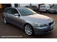 "IMMACULATE 2005 BMW 525 SE ( sport ) estate auto 115k, Gunmetal grey, 19""sport alloys grey Lthr nav"