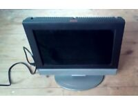"""Flatscreen TV Television 15"""" LCD With Freeview Black & Grey"""