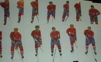 14 CARTES PHOTOS DES CANADIENS DE MONTREAL