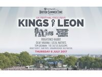 2 VIP Summer Garden tickets for the Kings of Leon