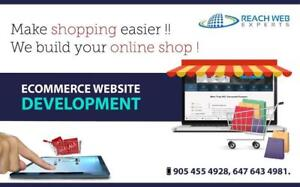 Best website designing for  shoppingcarts / e commerce site / website upgrades / SEO / google campaign call 647-643-4981