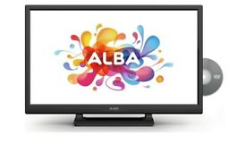 24inch Black Alba TV with built in DVD combo.