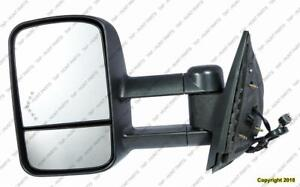 Door Mirror Power Driver Side Heated Trailer Tow Type Telecopic With Signal Manual Folding Chevrolet Silverado 2007-2013