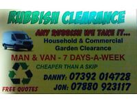 RUBBISH CLEARANCE DOMESTIC & COMMERCIAL 247 FAST RELIABLE-FREE QUOTE -SAME DAY SERVICE 07392014728