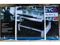 Quattro Zyco Large Single Contact Panini Grill. Rib Top Flat Bottom Plate GCS003