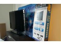 "Samsung 40"" as new Led slim 1080p full hd Ultra Clear Panel TV"