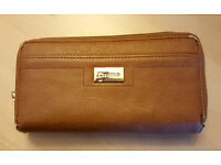 Genuine Dune Tan Leather Purse in good condition.
