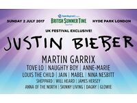 2 x Justin Bieber Tickets at Hyde Park