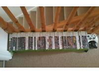 54 used Xbox 360 games and controllers