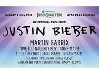 Justin Bieber BST tickets (2)