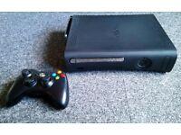Black Xbox 360 Elite 120gb Hard Drive + Headset & 17 games
