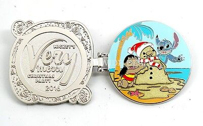 Disney Mickey's Very Merry Christmas Party 2016 Lilo & Stitch Pin LE 5300