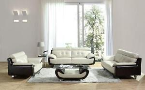 LORD SELKIRK FURNITURE - ARTHUR - 3PC SOFA, LOVESEAT and CHAIR IN LEATHER GEL