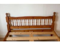 Double bed for sale, classic wooden frame