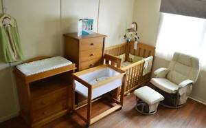 Boori Cot, Change table, Glider chair, Monitor, Drawers, Linens Brisbane City Brisbane North West Preview