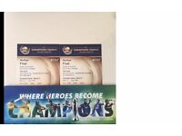 2 x ICC Champions Trophy Final Gold tickets India v Pak
