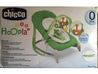 Chicco hoopla baby bouncer green from birth