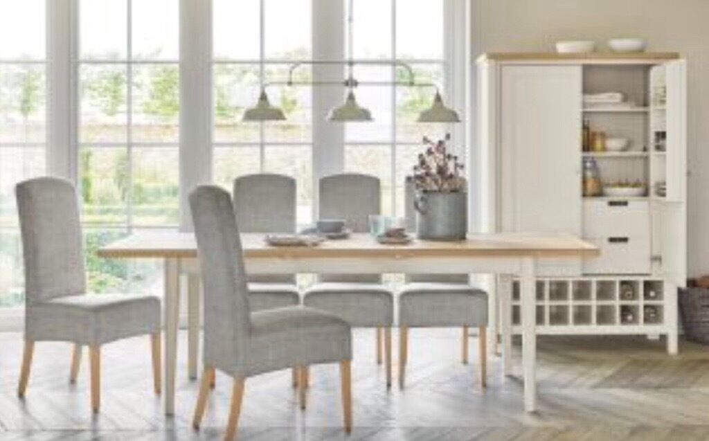 Next buxton 6 8 seater dining table brand new in for 6 seater dining room table and chairs