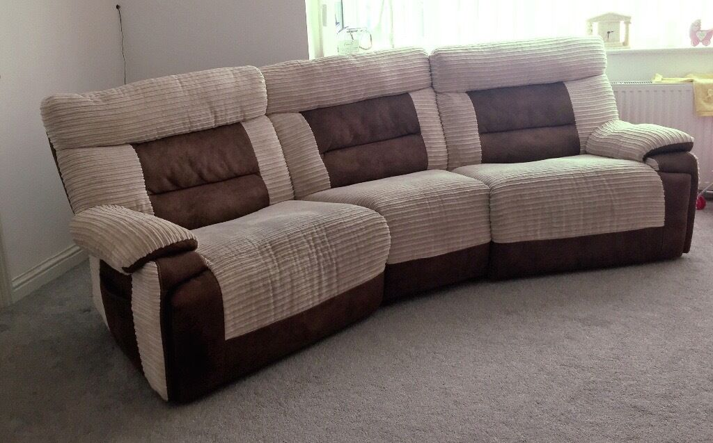 SCS Nelson 4 Seater Electric Reclining Sofa With Coordinating Foot Stool