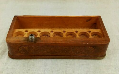 Antique SSM Standard Treadle Sewing Machine Bobbin Drawer Holder with 6 Bobbins