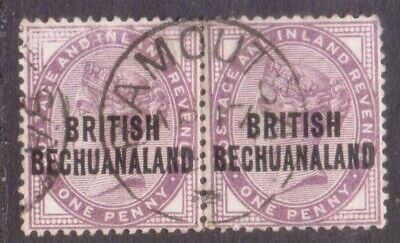 "BRITISH BECHUANALAND  POSTMARK / CANCEL  ""RAMOUTSA""  1893  on penny pair"