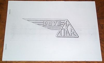 DKR DOVE BRITISH SCOOTER INSTRUCTION MANUAL.