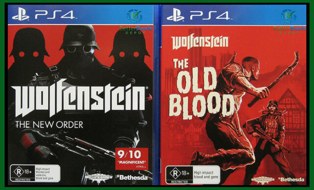 Wolfenstein: The New Order + The Old Blood PS4 Game Combo *New/Sealed/AU Stock*