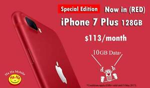 Special Edition RED iPhone 7 Plus 10GB Data with Contract Auburn Auburn Area Preview