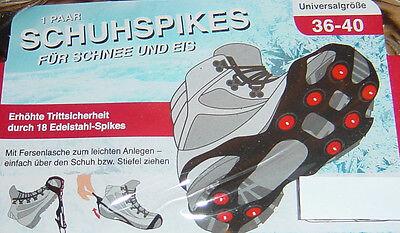 1 Paar Schuhspikes,18 Edelstahl-Spikes,Gr.36-40,NEU!
