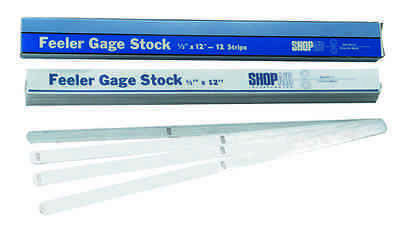 .020 Thick 12 X 12 Feeler Or Thickness Gage Stock - Strips 12 Pcs.
