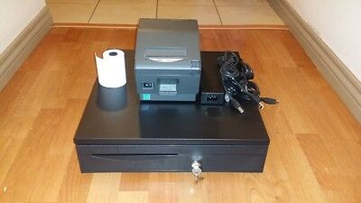 Square Stand Bundle: Star TSP743IIU  USB Receipt Printer & Cash Drawer Combo