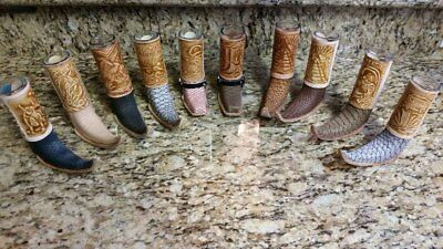 ONE Mini Boot Tequila Picture Glass Leather Artisan Hand-Crafted Assorted 1PC